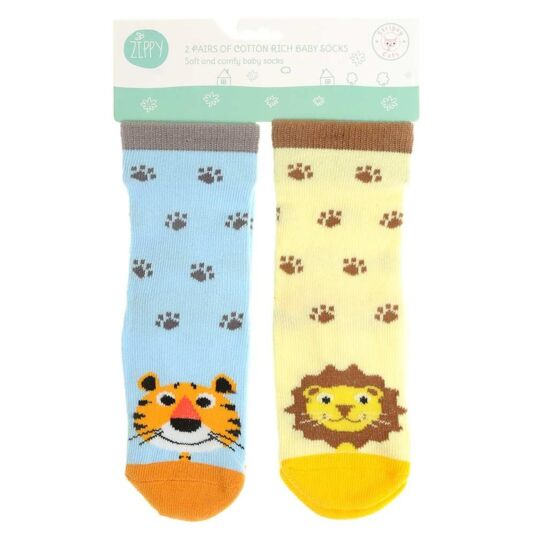 6 – 12 Months Tiger and Lion Socks