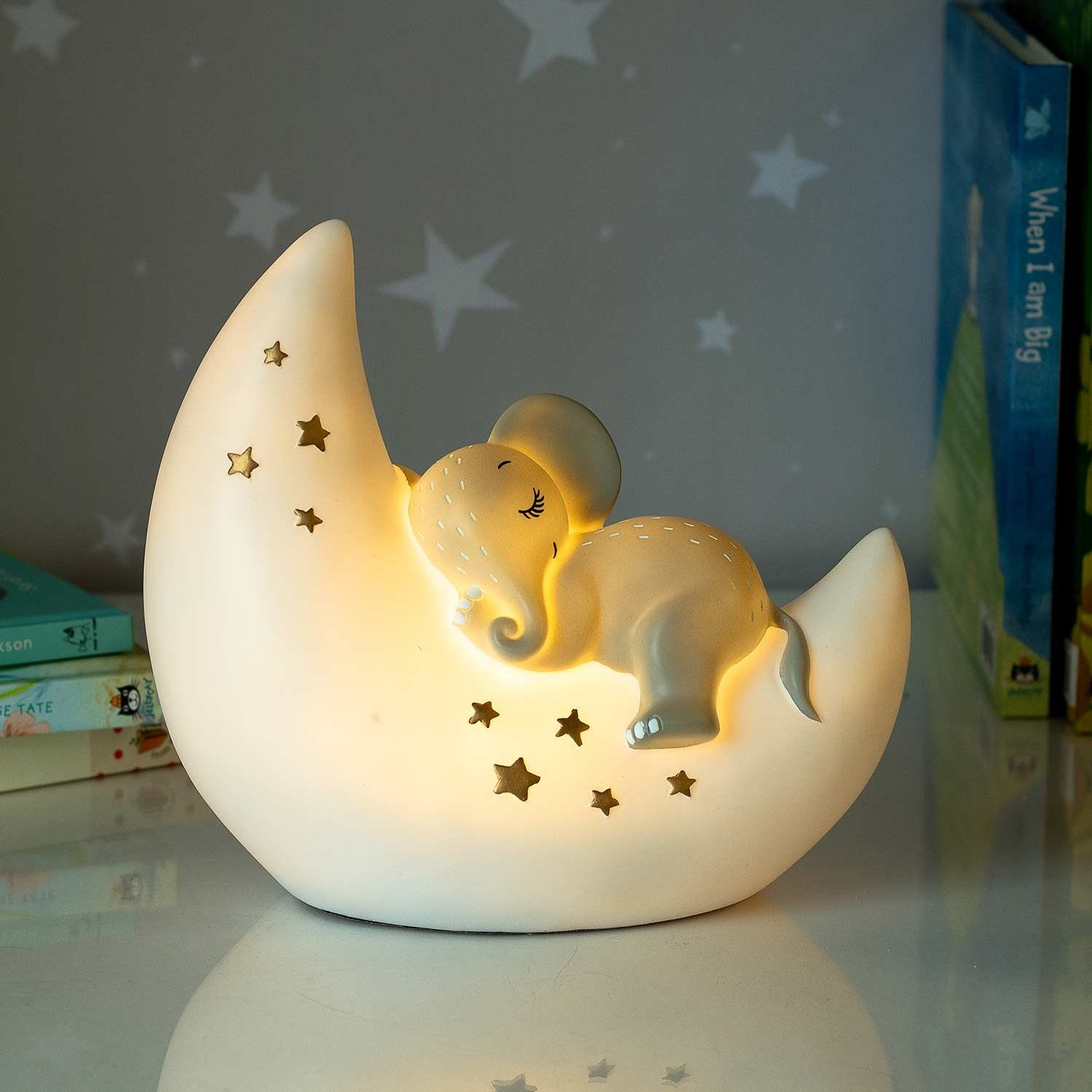 Disaster Designs Large Elephant And Moon Lamp Temptation Gifts