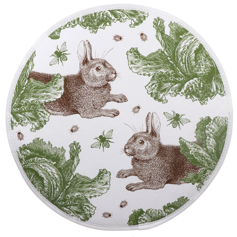Thornback & Peel Rabbit & Cabbage AGA Hob Cover