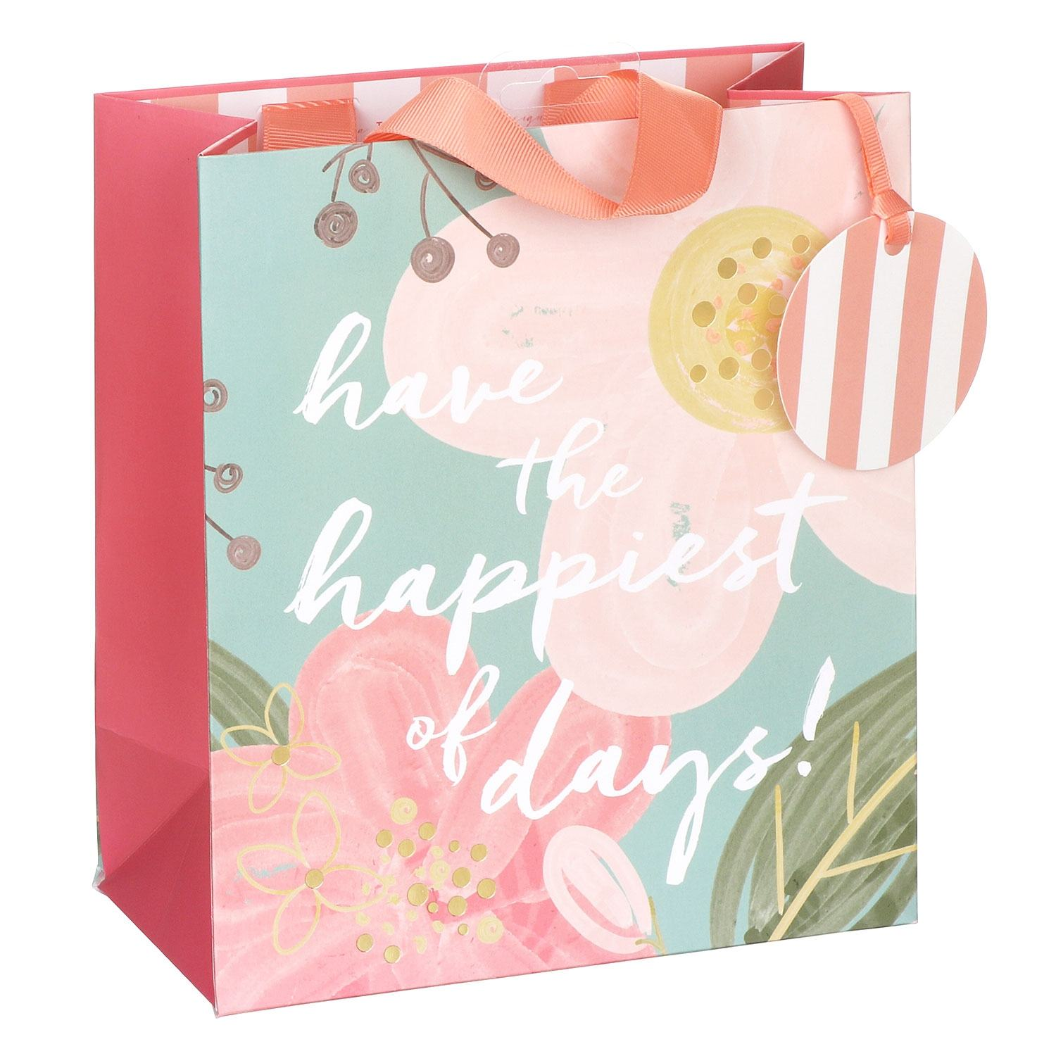 Glick Happiest Of Days Floral Medium Gift Bag