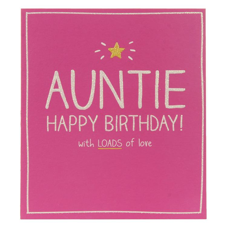 Happy Jackson Auntie Happy Birthday Card Temptation Gifts