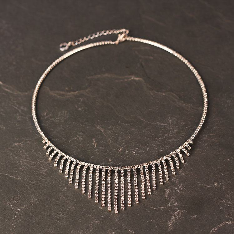 equilibrium silver plated bling line choker