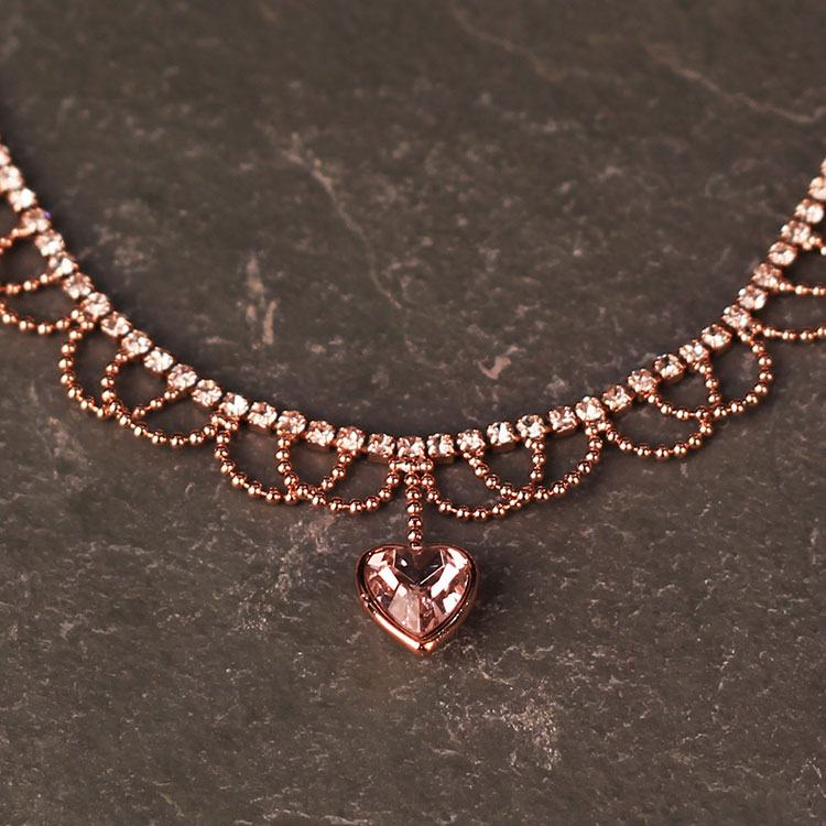 equilibrium rose gold plated pretty loops choker