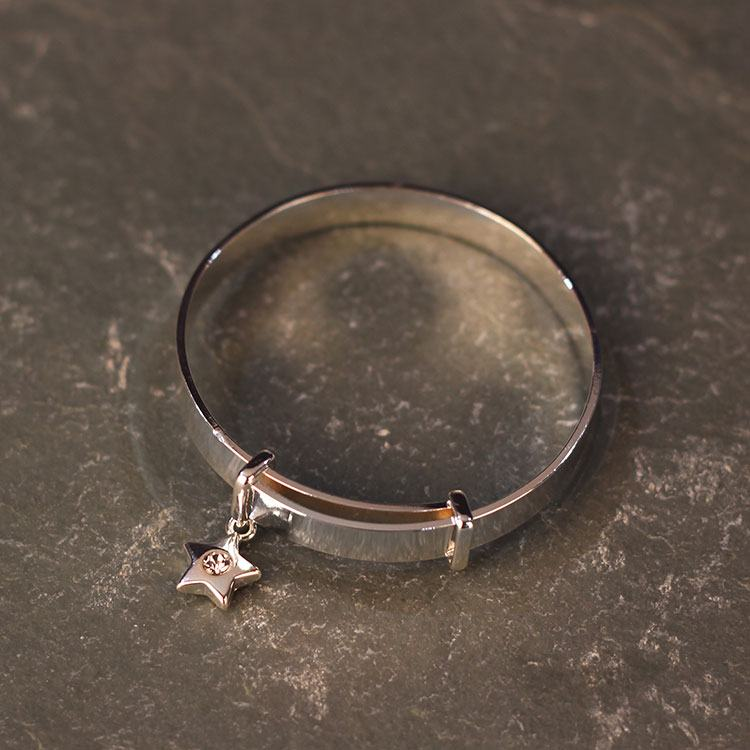 equilibrium girls silver plated bracelet twinkle wish silver