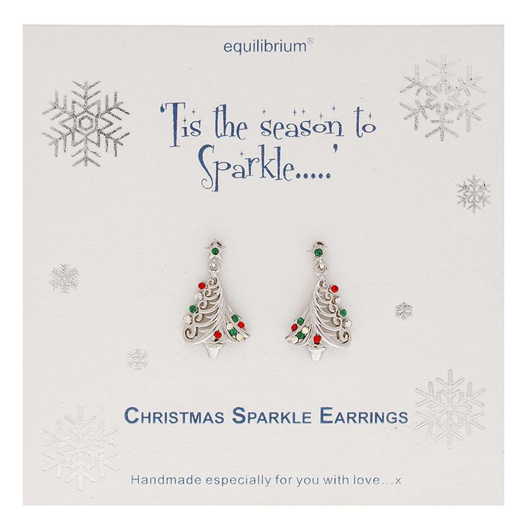 equilibrium christmas sparkle tree earrings