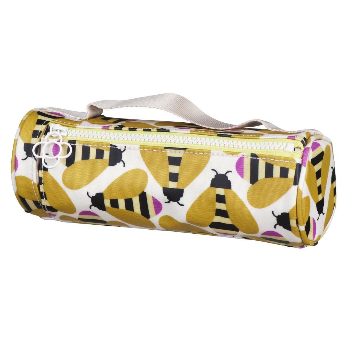 Orla Kiely Busy Bee Brush & Pencil Case Cosmetic Bag