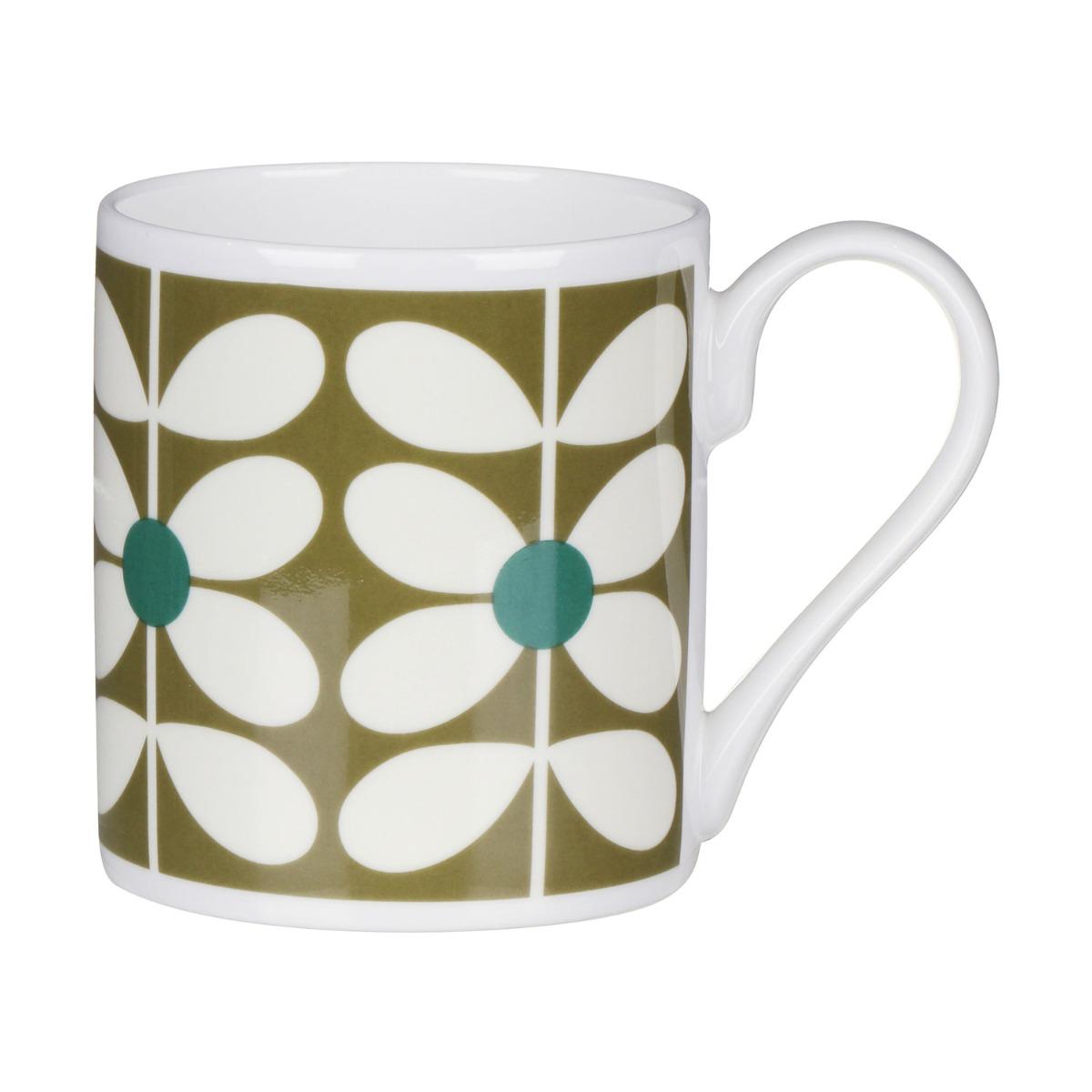 Orla Kiely 60's Stem Olive Standard Mug