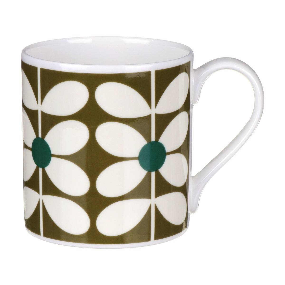 Orla Kiely 60's Stem Olive Large Mug