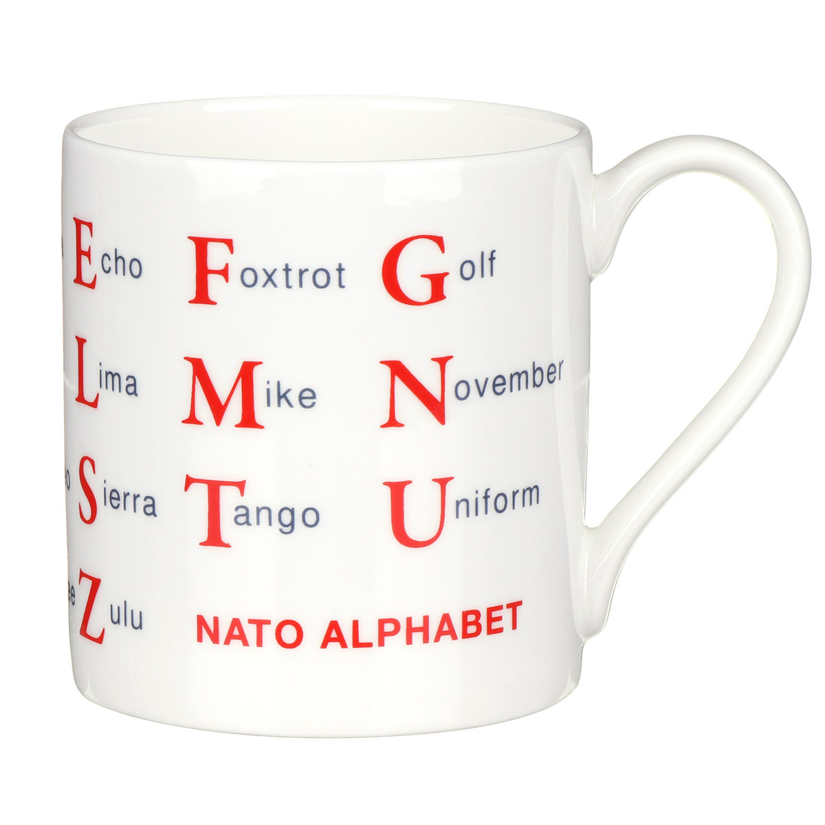 Mclaggan Smith Nato Alphabet Large Mug