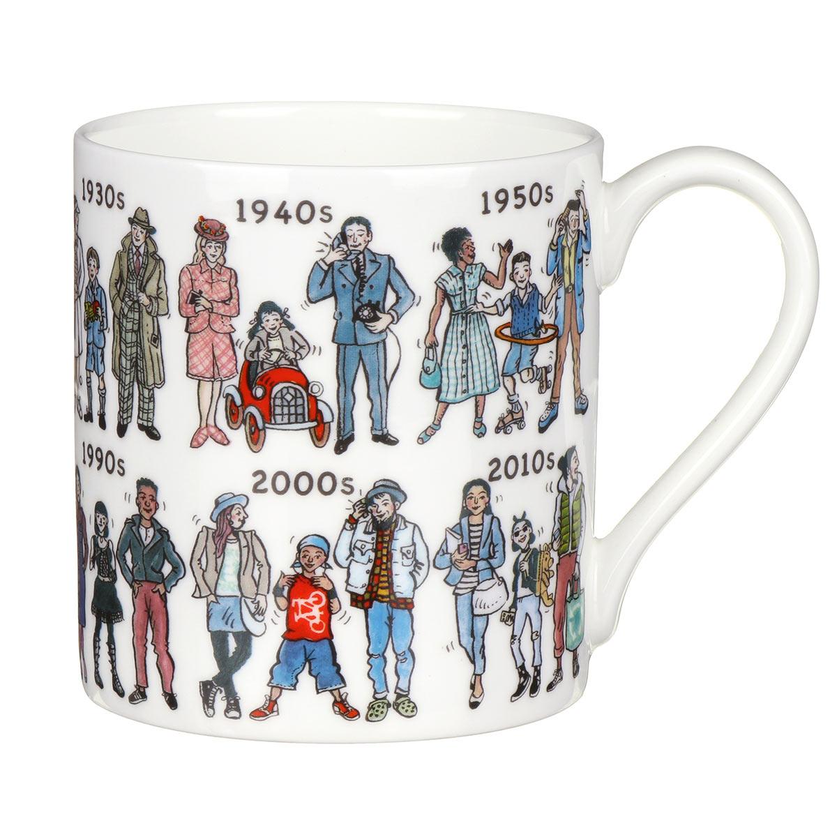 Mclaggan Smith Fashion Through The Decades Large Mug