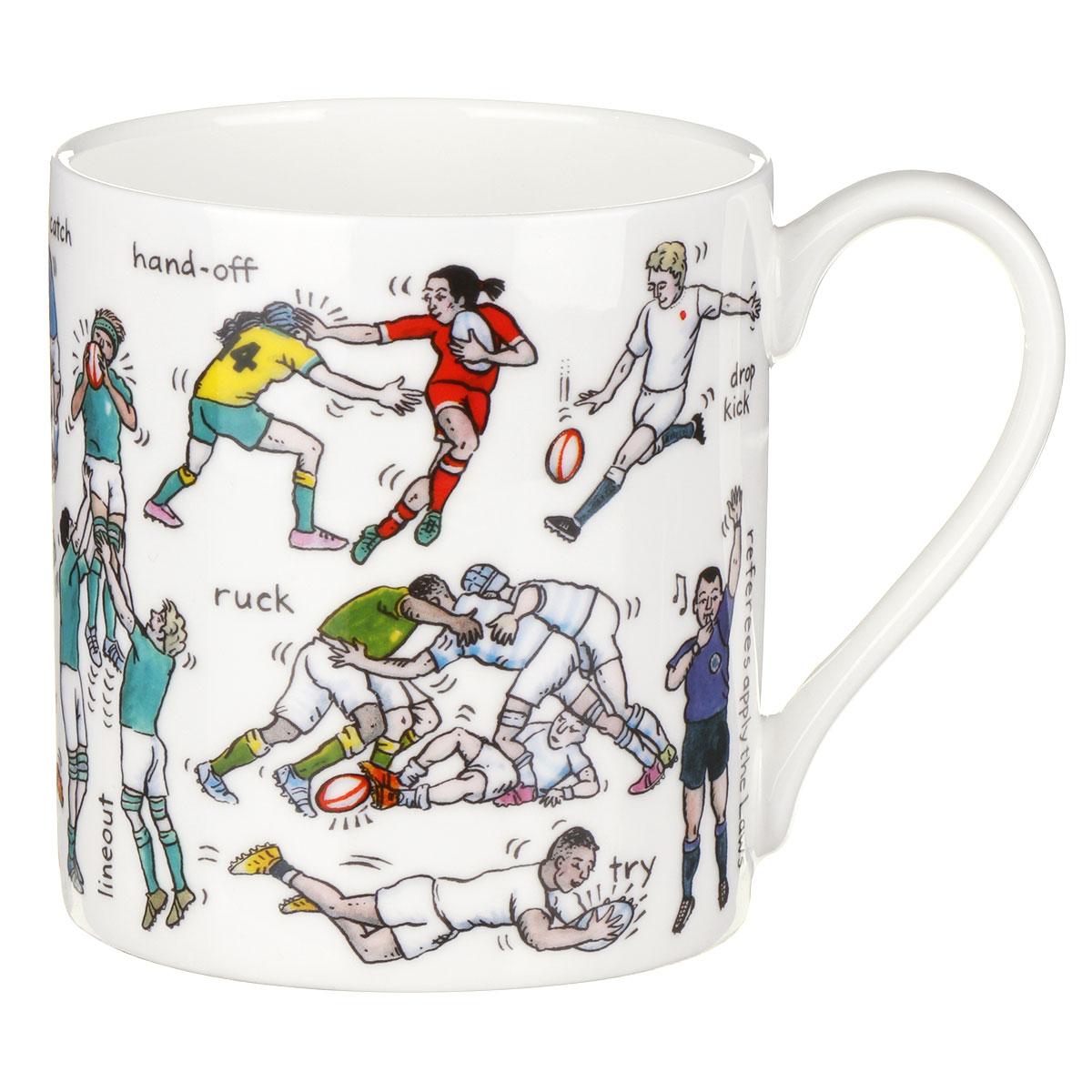 Mclaggan Smith The Art Of Rugby Large Mug