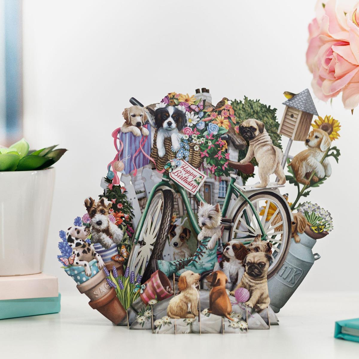 "Me & McQ ""Puppies"" 3D Birthday Card"