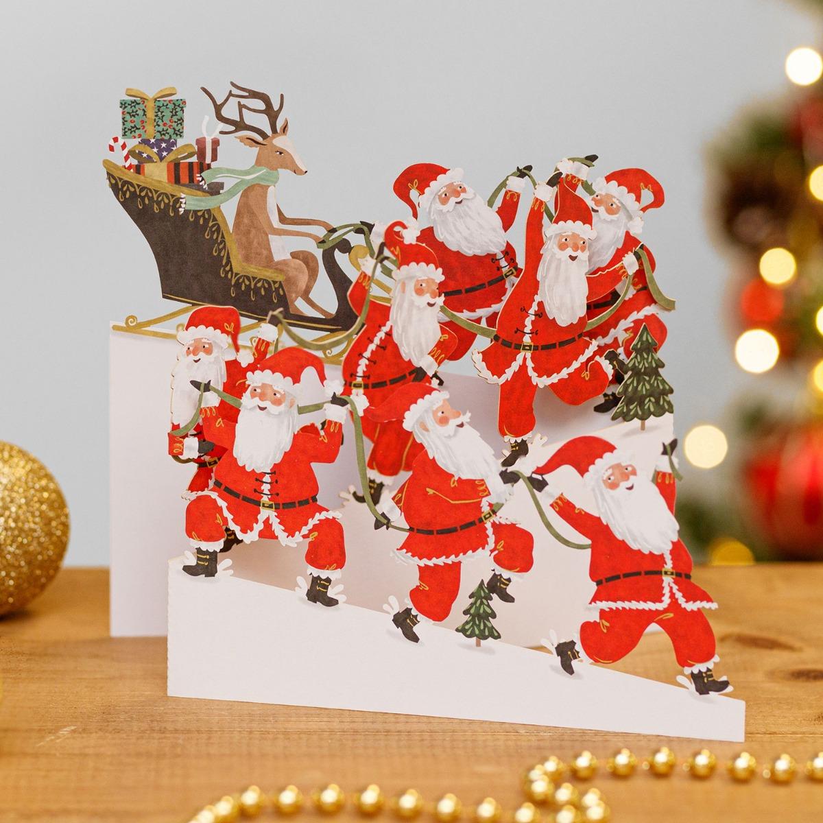 Me & McQ Santa Power Zig Zag 3D Christmas Card