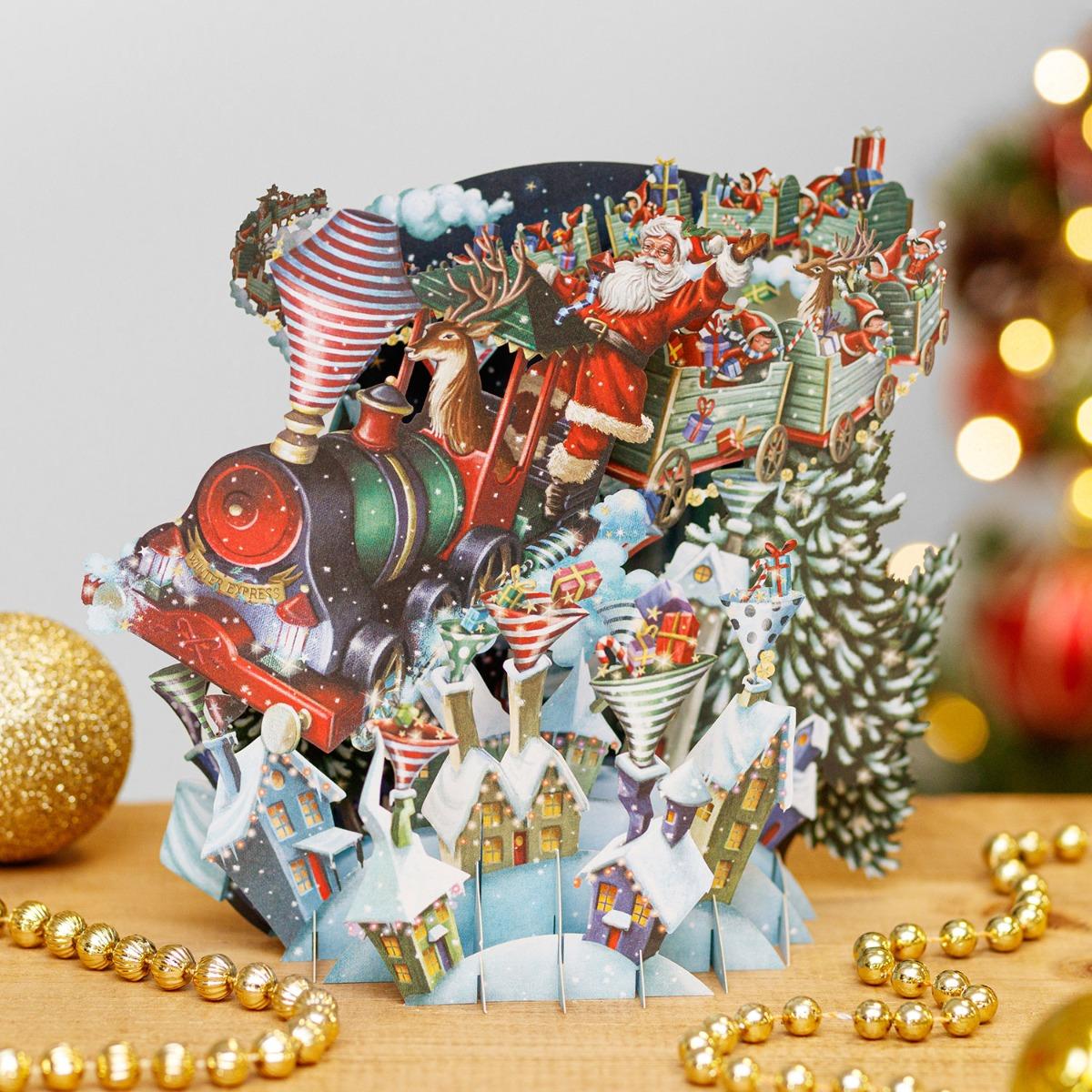 Me & McQ Santa's Express 3D Christmas Card