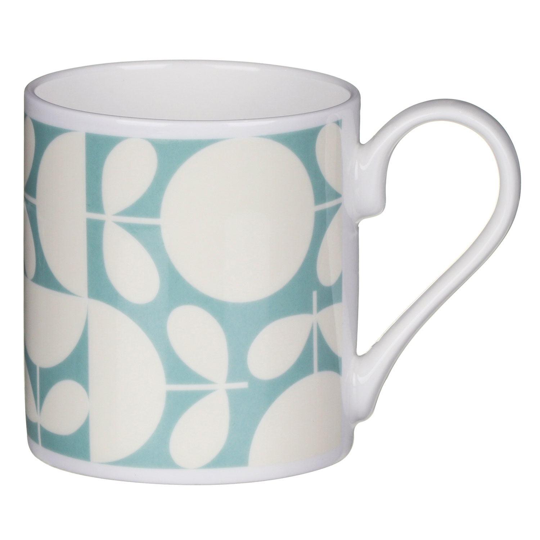 Orla Kiely Aqua Patchwork Print Standard Mug