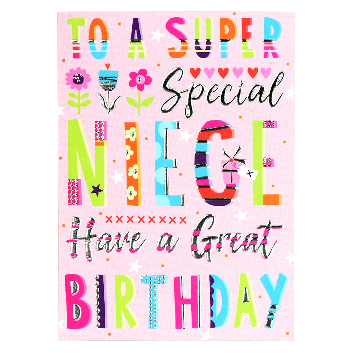 Paperlink Bangers & Flash Niece Birthday Card
