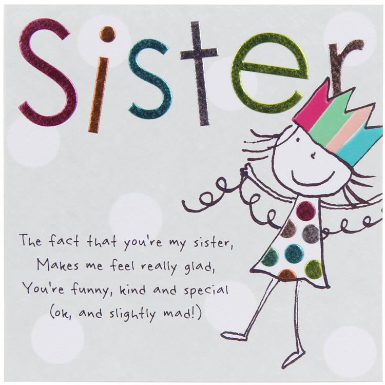 Paperlink Tinklers Sister Birthday Card Temptation Gifts