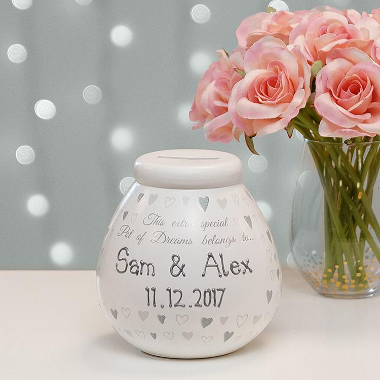 Pot of Dreams Personalised Wedding Money Pot
