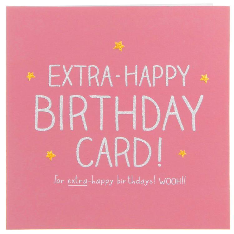 Happy Jackson Cards Extra-happy Birthday Card