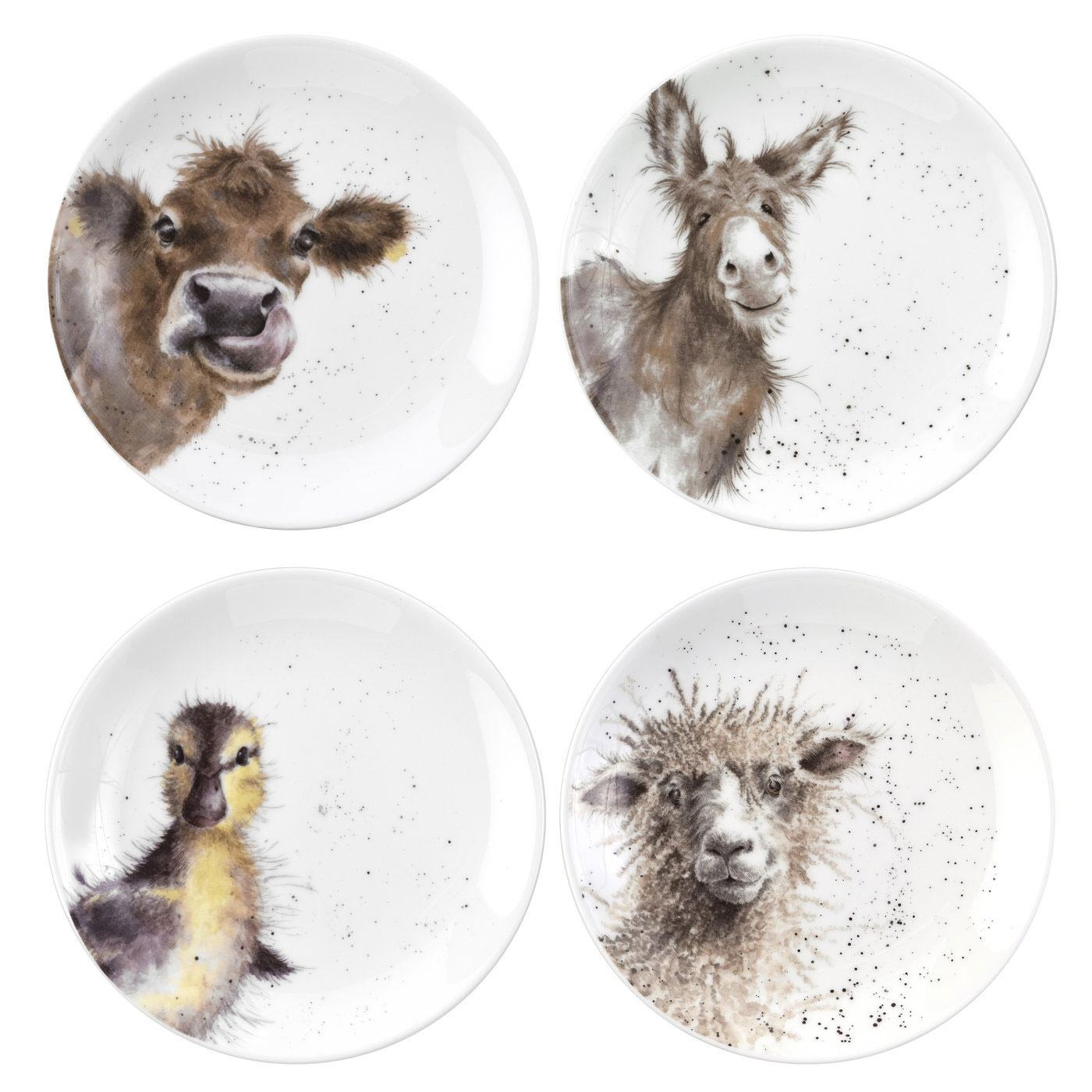 Wrendale 6.5 Inch Coupe Plates from Royal Worcester - Set of 4