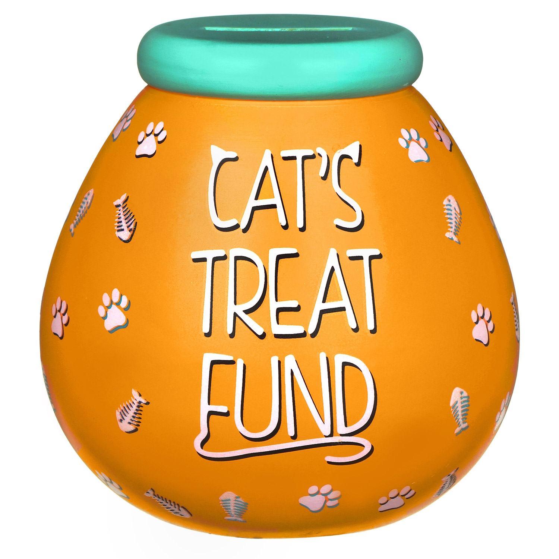 Pot of Dreams Cat Treat Fund Money Pot