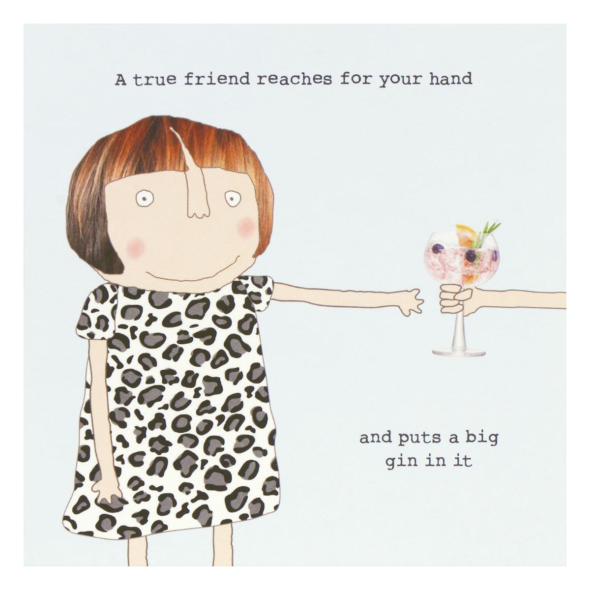 Rosie Made A Thing True Friend Greetings Card