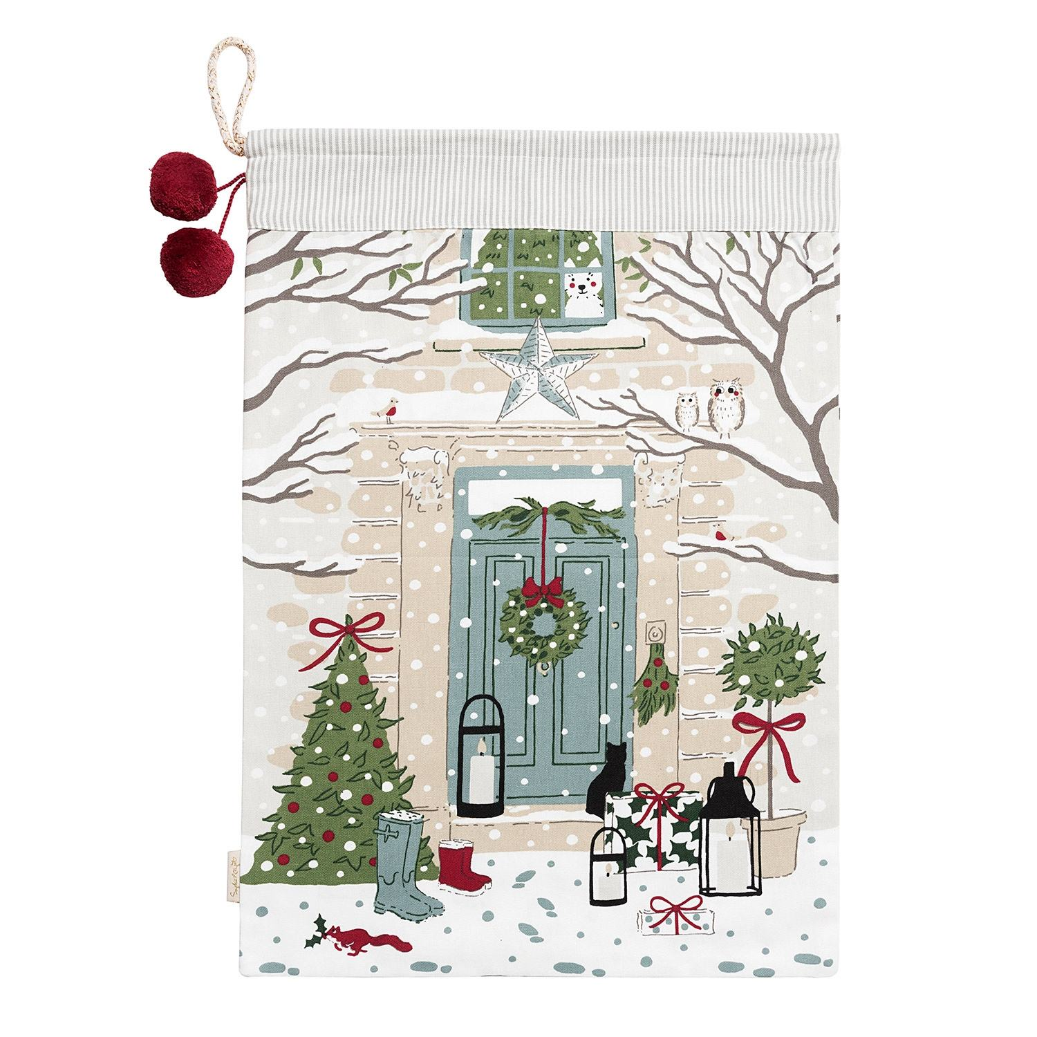 Sophie Allport Christmas Holly & Berry Christmas Sack | Temptation Gifts