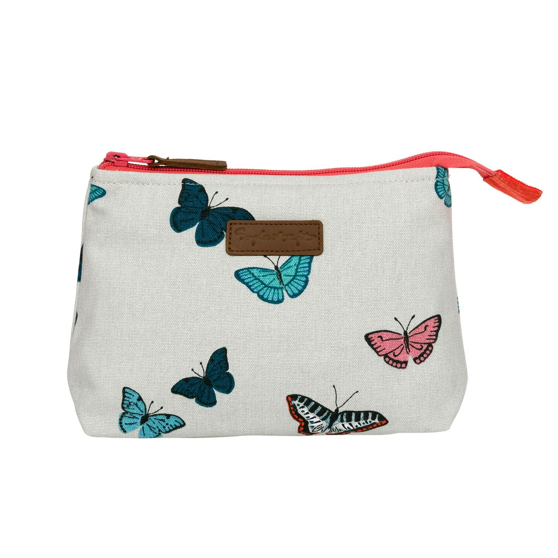 Sophie Allport Butterflies Canvas Makeup Bag