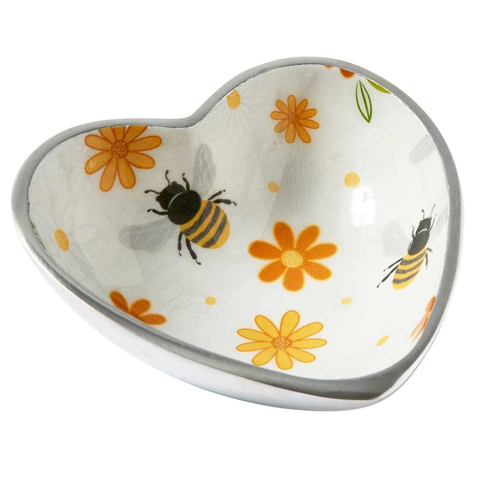 Transomnia Busy Bees Rounded Heart Bowl