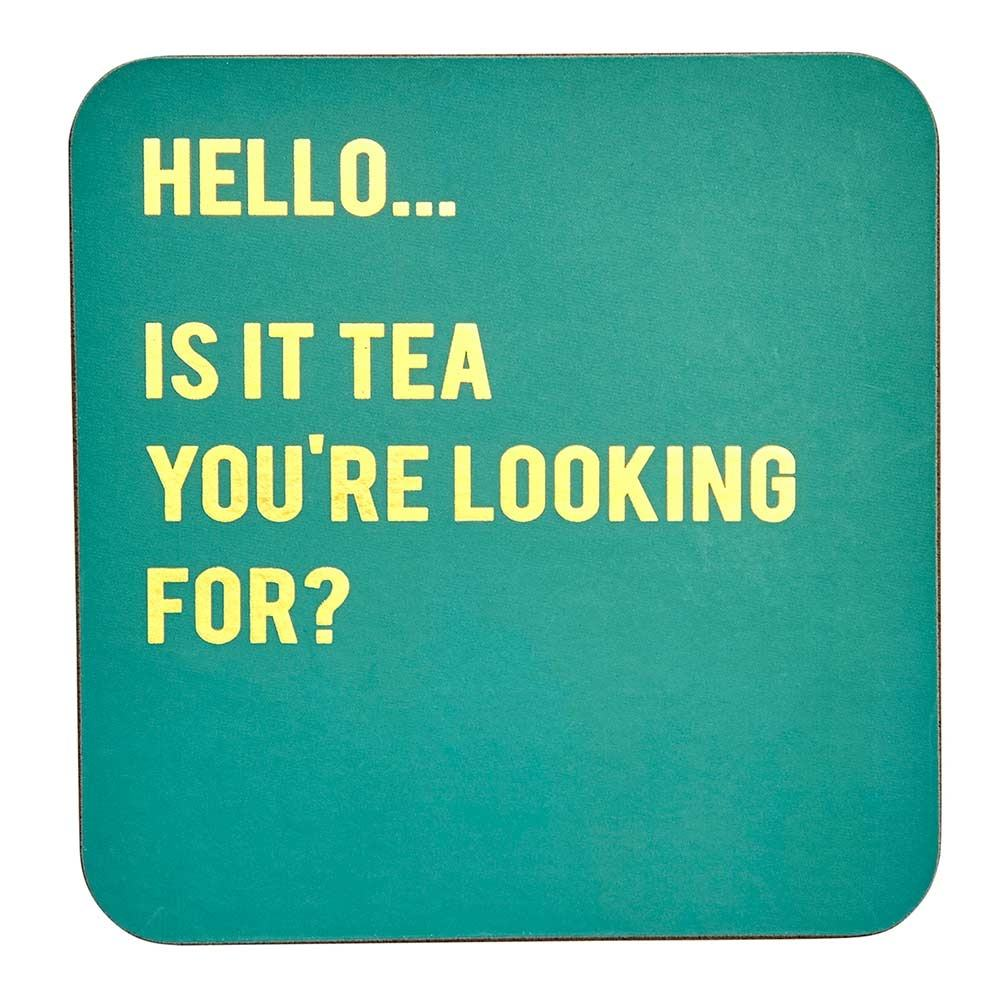 Transomnia Cloud Nine 'Is It Tea You're Looking For?' Coaster