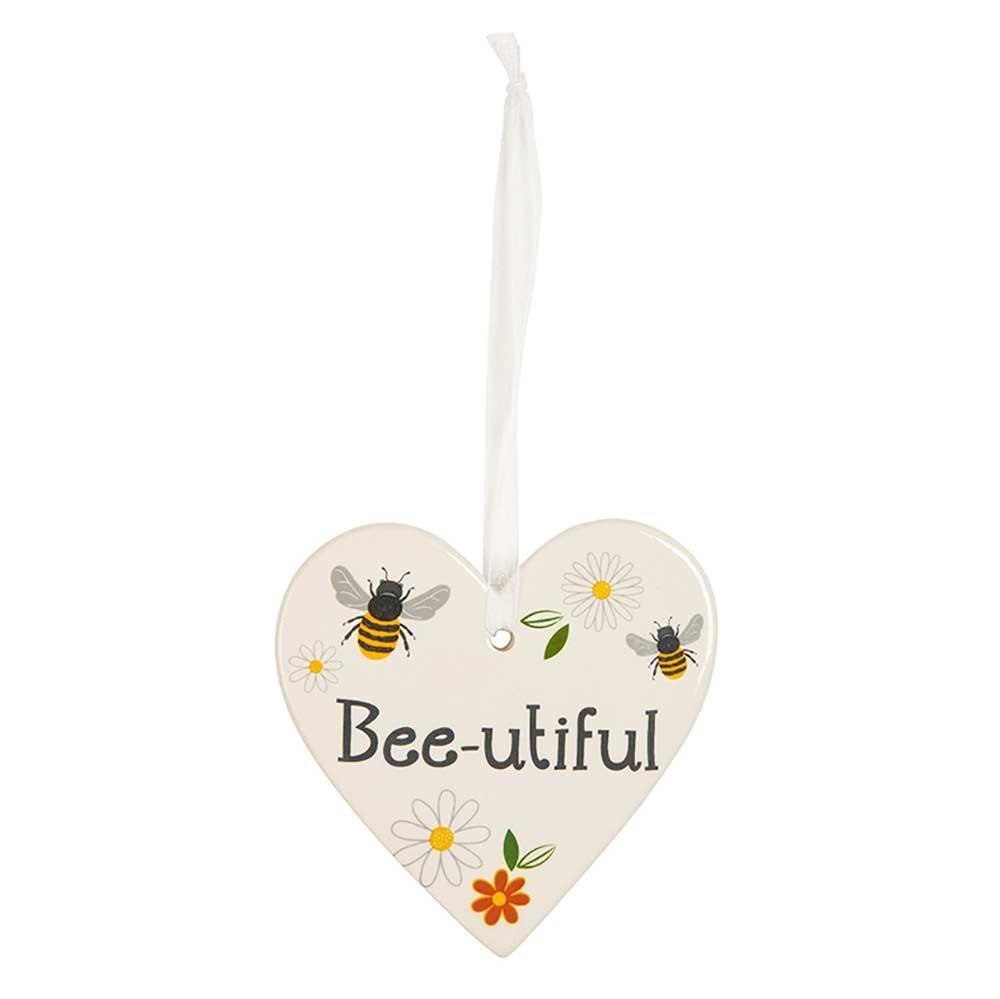Transomnia Busy Bee 'Bee-utiful' Hanging Heart