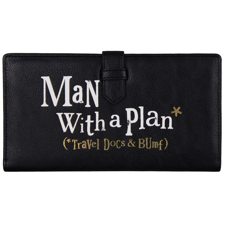 the bright side man with plan travel wallet