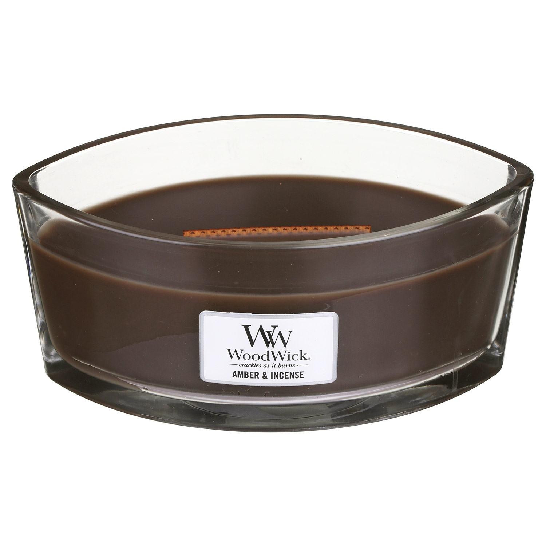 WoodWick Amber & Incense Hearthwick Ellipse Candle