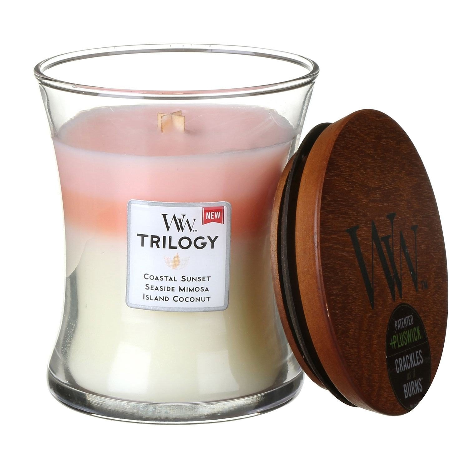Scented Candles WoodWick Island Getaway Medium Trilogy Candle