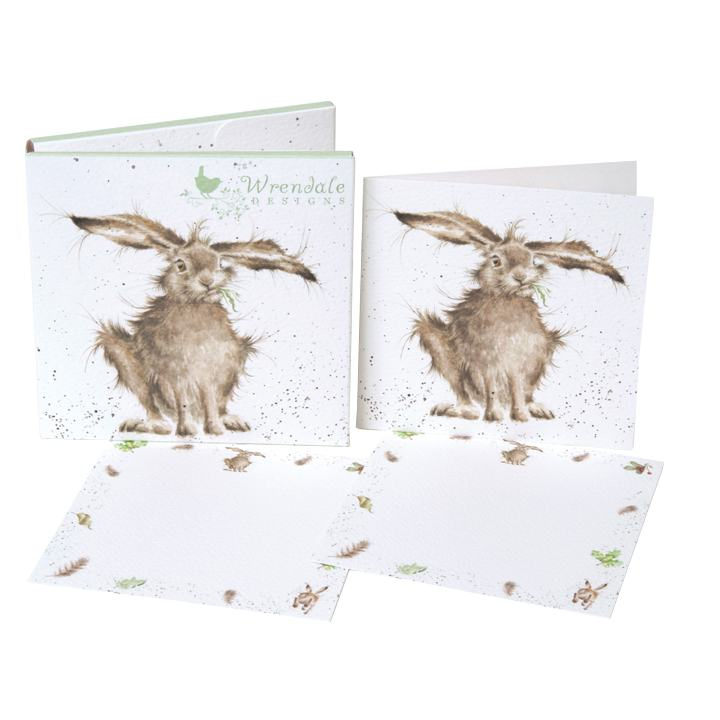 wrendale the country set harebrained notecard pack