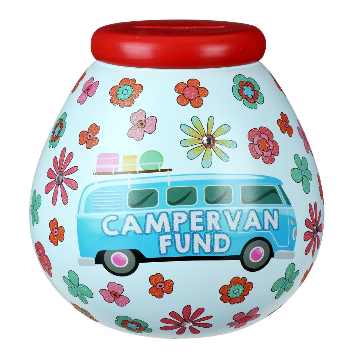 Pot of Dreams Retro Campervan Fund Money Pot