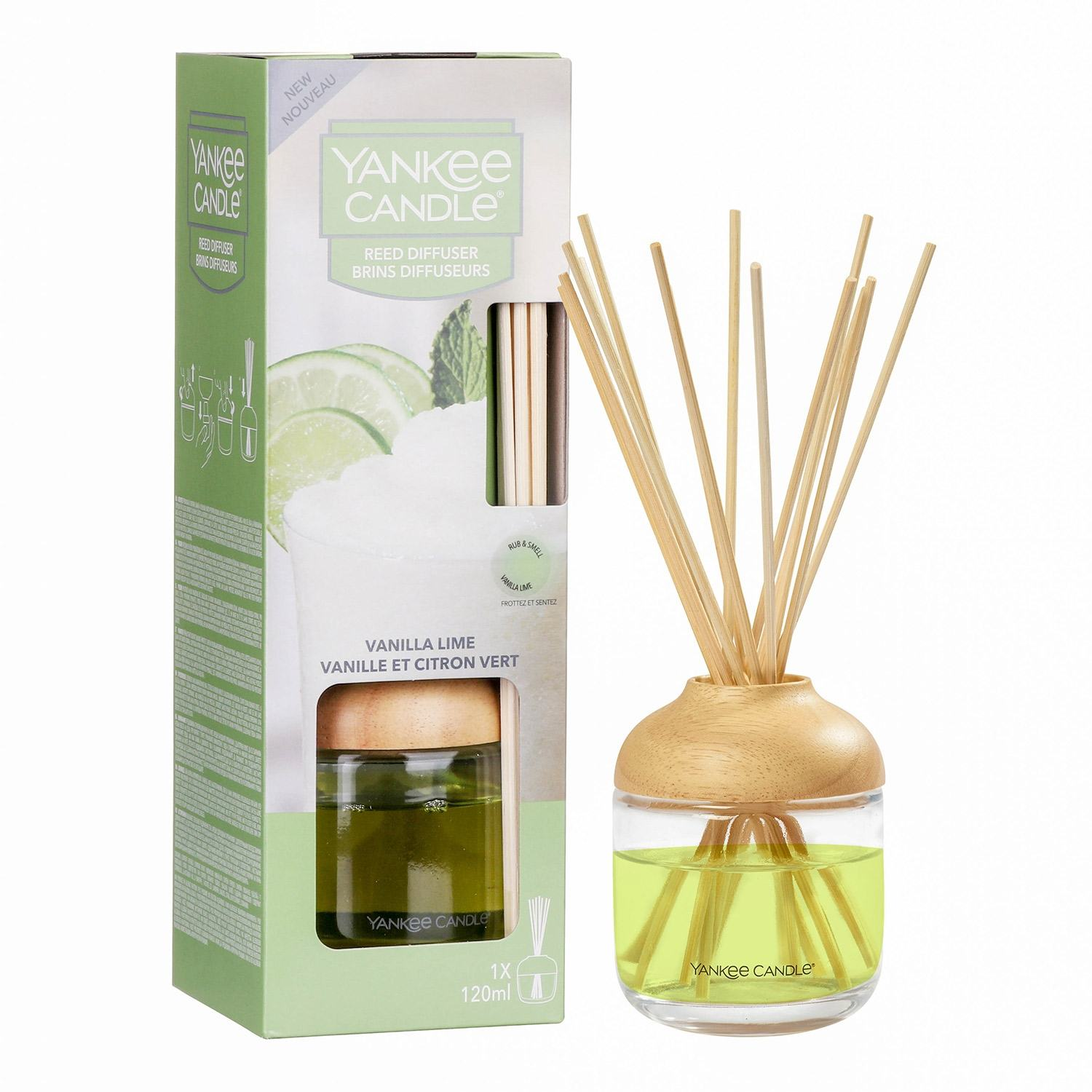 Yankee Candle Vanilla Lime Reed Diffuser Temptation Gifts
