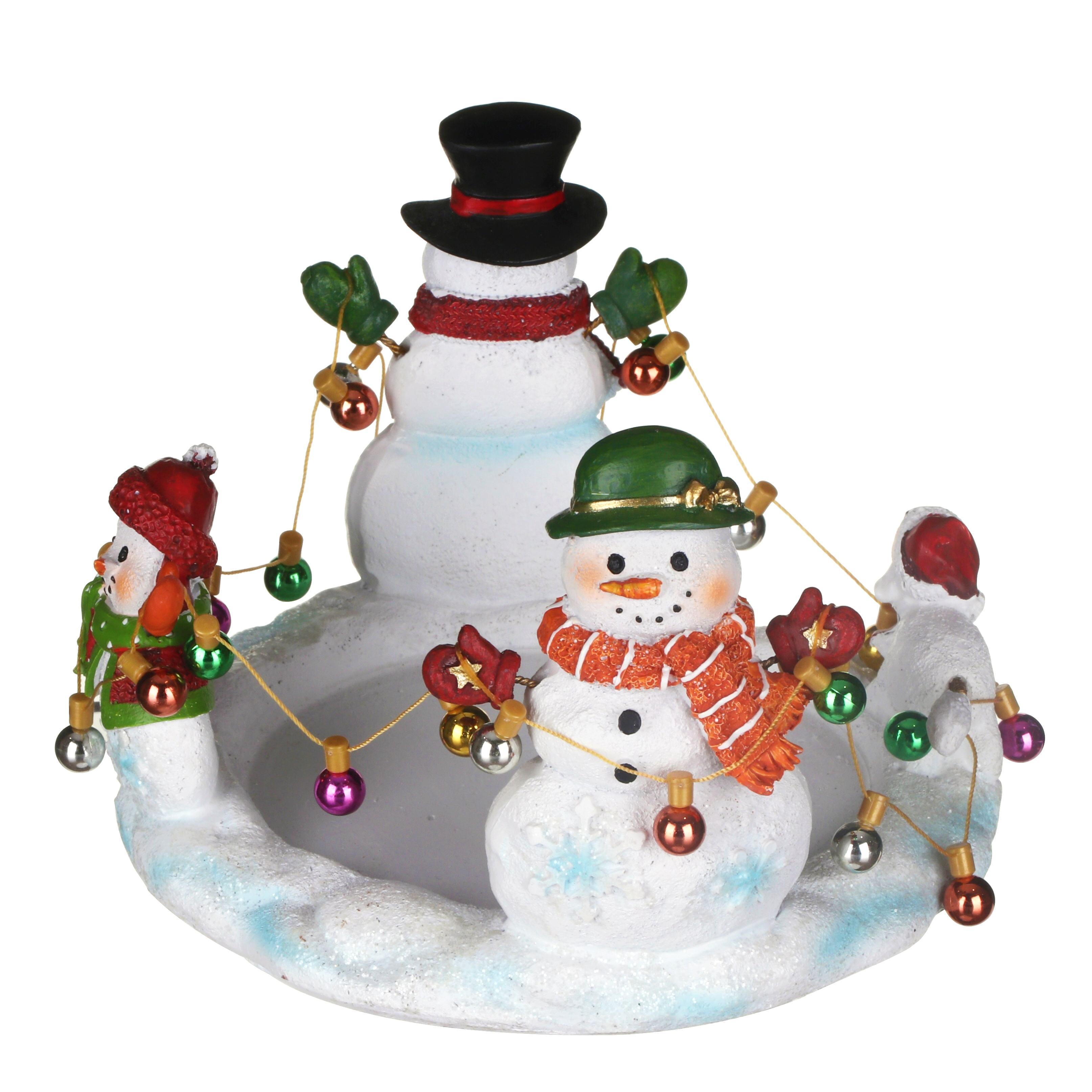 Ceramic Snowmen Candle Holder Christmas !FREE UK P/&P!