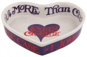 I Love Chocolate Heart Shaped Baker