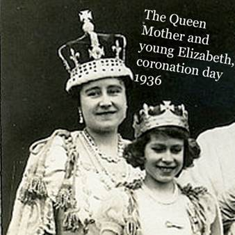 Queen Mother and young Elizabeth