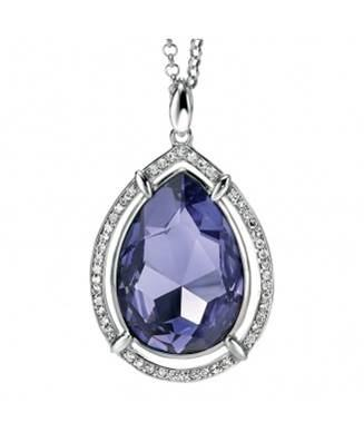 A silver and Swarovski crystal necklace from Fiorelli
