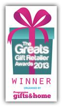 Winner of Best Online Retailer of Gifts 2013