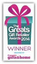 Winner of Best Online Retailer of Gifts 2014