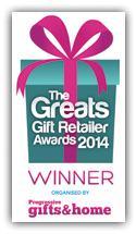Winner of Best Online Retailer of Gifts 2014