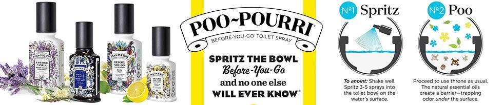 Poo~Pourri Logo & Background
