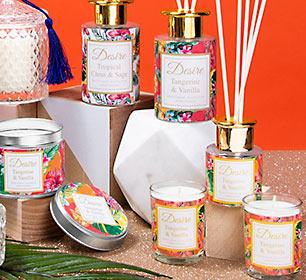 Desire range of Candles & Diffusers from The Leonardo Collection