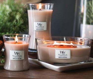 Browse new candles from Woodwick