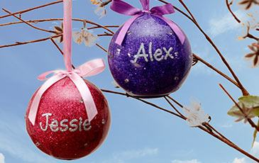 Personalised Your Name In Lights Baubles