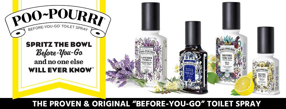Poo Pourri collection at Temptation Gifts