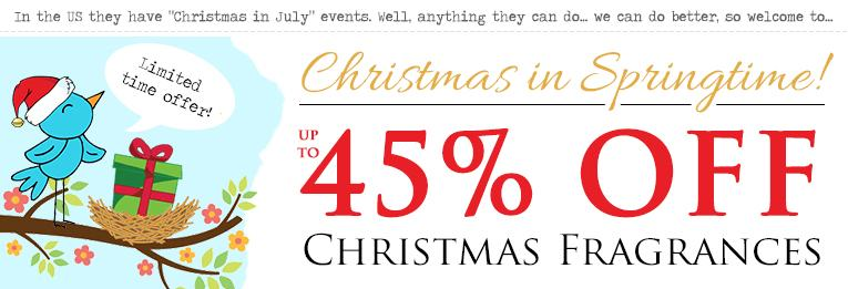 45% off Yankee Candle Christmas fragrances